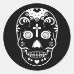 sugar skullz : 2 round sticker