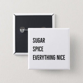 SUGAR & SPICE BUTTON (black)