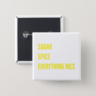 SUGAR & SPICE BUTTON (yellow)