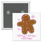 Sugar & Spice Gingerbread Button