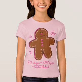 Sugar & Spice Gingerbread Girl's Baby Doll Tee