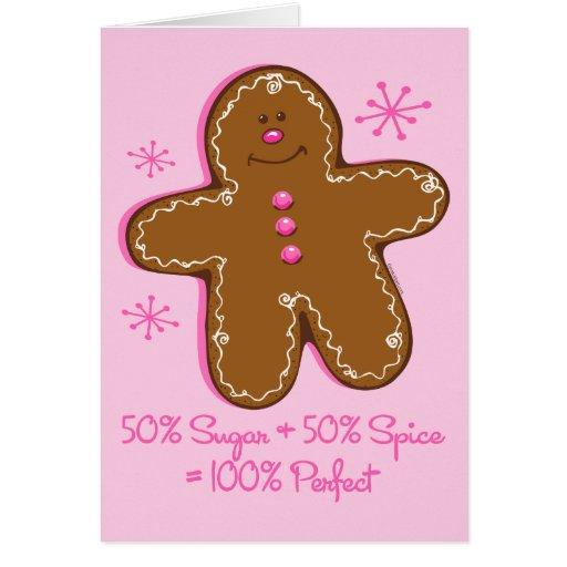 Sugar & Spice Gingerbread Greeting Card