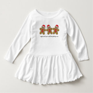 Sugar & Spice Gingerbread Man Triplets Dress