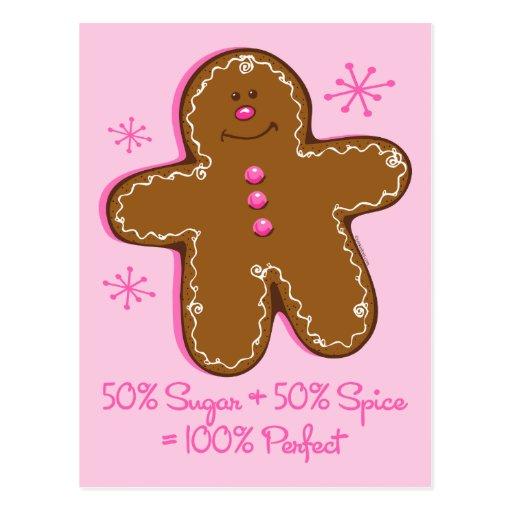 Sugar & Spice Gingerbread Postcard