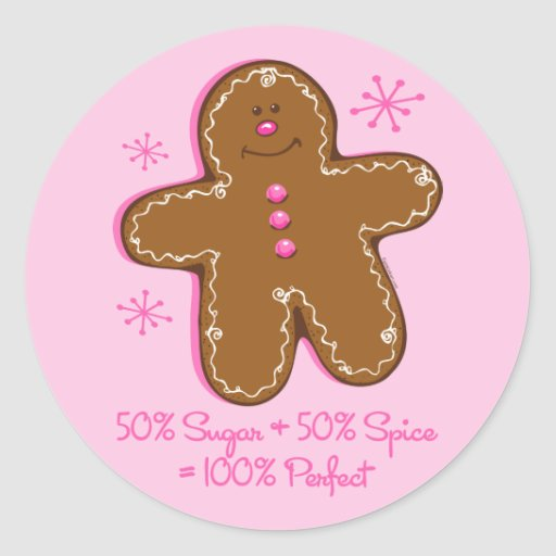 Sugar & Spice Gingerbread Sticker