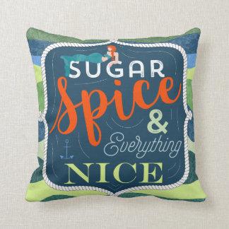 sugar spice nice pillow, decor home, mermaid cushion