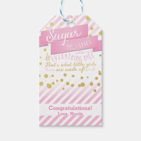 Sugar & Spice Pink & Gold Baby Shower