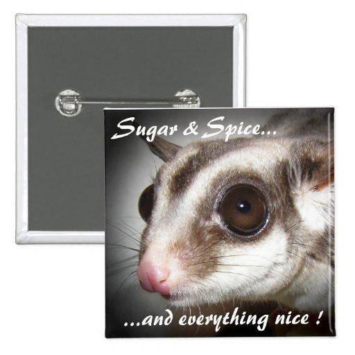 Sugar & Spice Sugar Glider Button