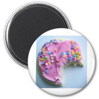 Sugar sprinkle cookie 6 cm round magnet