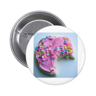 Sugar sprinkle cookie pinback button