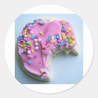 Sugar sprinkle cookie round sticker