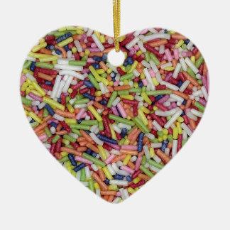 Sugar Sprinkles Ceramic Heart Decoration