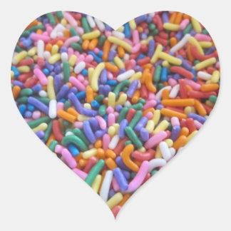 Sugar Sprinkles Heart Sticker