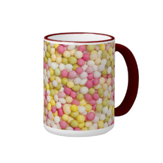 Sugar sprinkles on mug