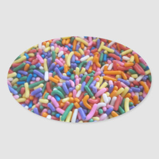Sugar Sprinkles Oval Sticker