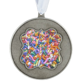 Sugar Sprinkles Scalloped Pewter Ornament