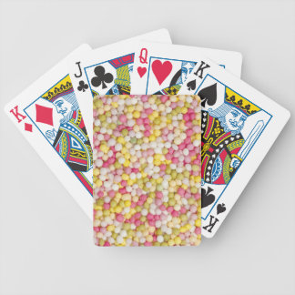 Sugar sprinkles playing cards
