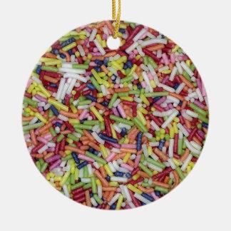 Sugar Sprinkles Round Ceramic Decoration