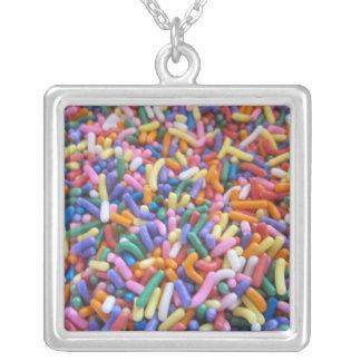 Sugar Sprinkles Square Pendant Necklace