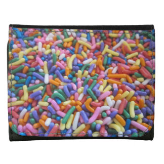 Sugar Sprinkles Leather Trifold Wallet