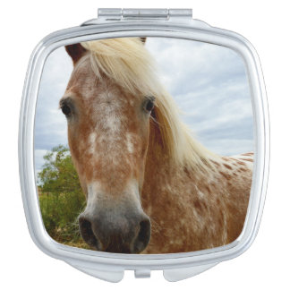 Sugar The Appaloosa Horse, Compact Mirror. Vanity Mirror