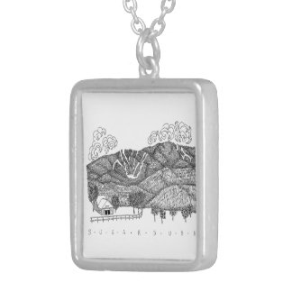 Sugarbush Vermont Silver Necklace