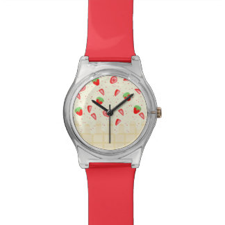 sugarparade Strawberries and Cream Wrist Watch