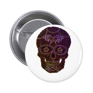 sugarskull2 6 cm round badge