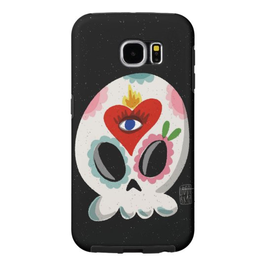 SugarSkull Third Eye colour Samsung Galaxy S6 Cases