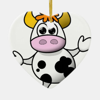Suggestive cow christmas ornament