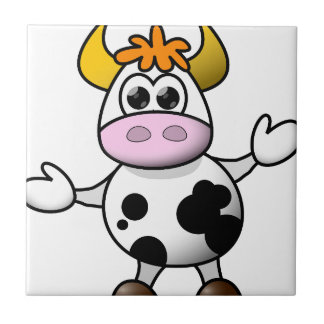 Suggestive cow tile