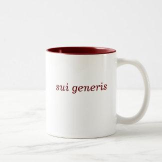 Sui Generis maroon 2-tone mug (left-hand)