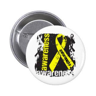 Suicide Awareness Grunge Ribbon 6 Cm Round Badge