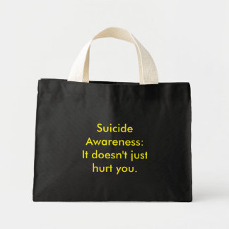 Suicide Awareness Mini Tote Bag