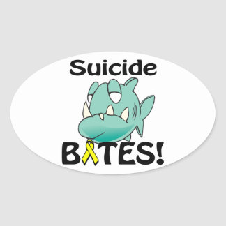Suicide BITES Oval Stickers
