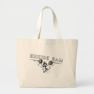 Suicide cheerleader bat with guns tote bags