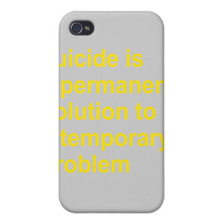 Suicide is a permanent solution iPhone 4 cover