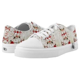 Suicide King Low Top Shoes Printed Shoes