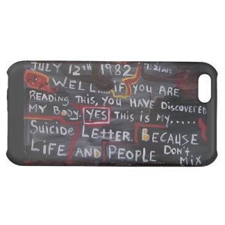 SUICIDE LETTER COVER FOR iPhone 5C