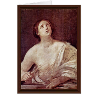 Suicide Of Lucretia By Reni Guido Greeting Card