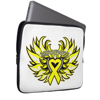 Suicide Prevention Awareness Heart Wings Laptop Sleeve