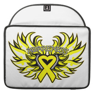 Suicide Prevention Awareness Heart Wings Sleeves For MacBooks