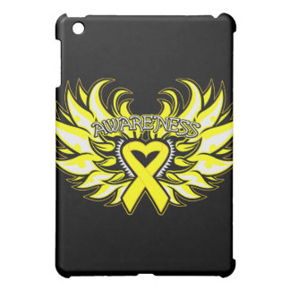 Suicide Prevention Awareness Heart Wings png Cover For The iPad Mini