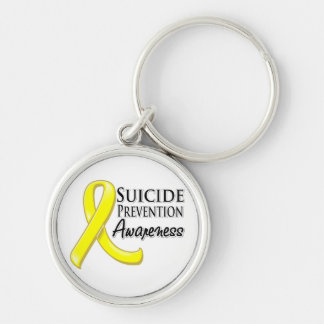 Suicide Prevention Awareness Ribbon Keychain