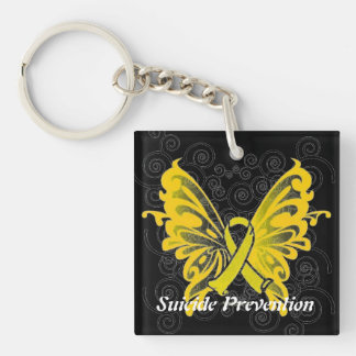 Suicide Prevention Awareness Ribbon Keychain Acrylic Keychain