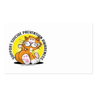 Suicide Prevention Cat Business Card Templates