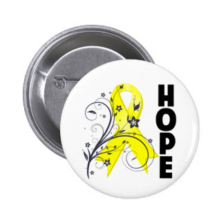 Suicide Prevention Floral Hope Ribbon 6 Cm Round Badge