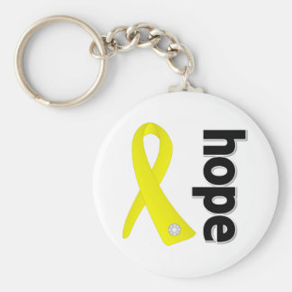 Suicide Prevention Hope Ribbon Key Chains
