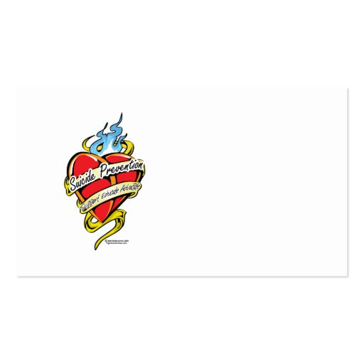 Suicide Prevention Tattoo Heart Business Card