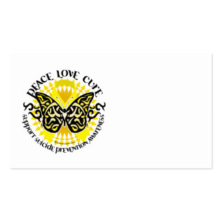 Suicide Prevention Tribal Butterfly Pack Of Standard Business Cards